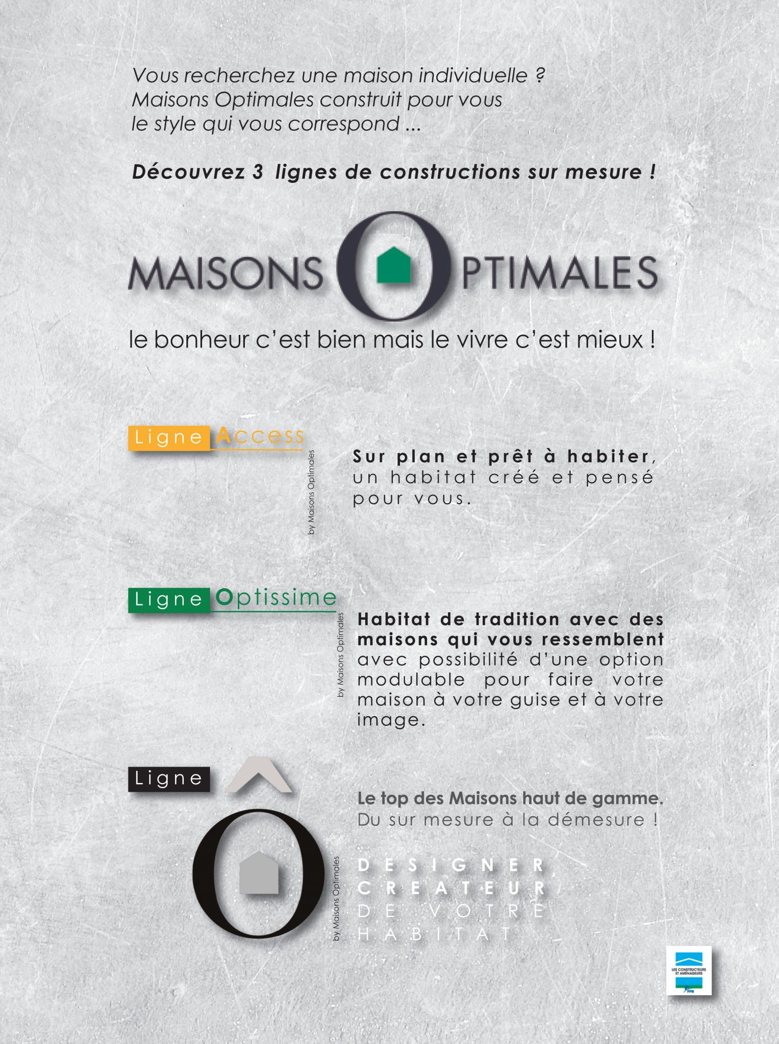 Lignes de collections by maisons optimales maisons optimales - Maisons optimales ...