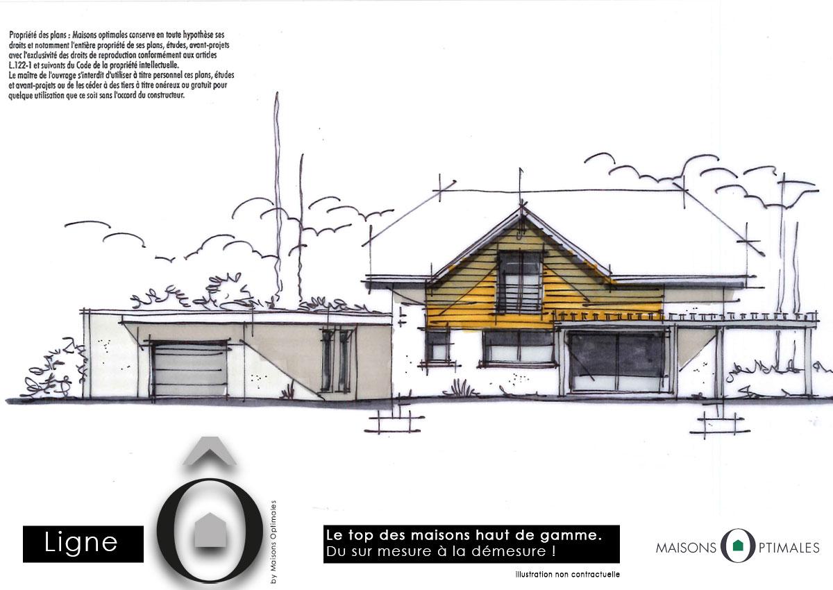 maison-architecte-dessin-esquisse-design-sur mesure-construction-maison individuelle