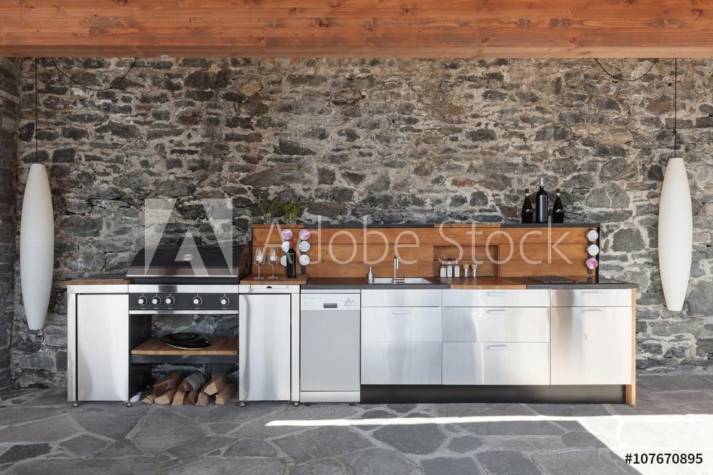 cuisine-cuisine exterieur-Cuisine été - chambery-constructeur-construction-maison-maison individuelle-habitation-logement neuf